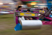 Ride The Scrambler At County Fair — Stock Photo