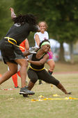 Women Practice In Flag Football League — Stock Photo