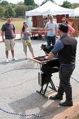 Magician Entertains At Fall Festival — Stock Photo