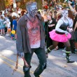 Male Zombie Walks In Halloween Parade — Stock Photo #17661741
