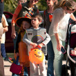 Stock Photo: Kids In Costumes Get Ready For Halloween Parade