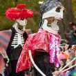 Skeleton Puppeteers In Halloween Parade — Stock Photo #17665151