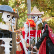 Skeleton Puppeteers Perform In Atlanta Halloween Parade — Stock Photo