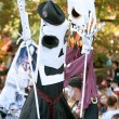 Skeleton Puppeteers Perform In Halloween Parade — Stock Photo
