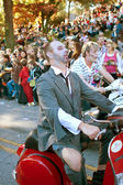 Zombies Ride Motorcycles In Halloween Parade — Stock Photo