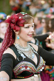 Belly Dancer Performs At Halloween Parade — Stock Photo