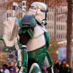 Armored Star Wars Character Walks In Atlanta Christmas Parade — Stock Photo