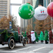 Стоковое фото: Costumed Gather At Start Of Christmas Parade