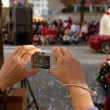 Point And Shoot Camera Captures Moments From Christmas Parade — Foto Stock