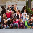 Spectators Watch Atlanta Christmas Parade — Foto Stock