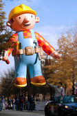 Inflated Construction Worker Balloon In Atlanta Christmas Parade — Стоковое фото