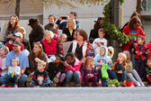 Spectators Watch Atlanta Christmas Parade — Stock Photo