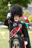 Drum Major Leads Pipe And Drums Unit At Spring Festival — Stock Photo