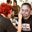 Stock Photo: MGets Zombie Makeover From Makeup Artist