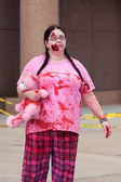 Female Undead Wanders Around In The Atlanta Zombie Run — Stock Photo