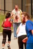 Zombies Menace Runners In Atlanta 5K Race — Stock Photo