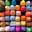 Box of Colorful Chalk For Creating Sidewalk Art — Stock Photo