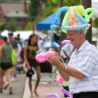 Stock Photo: MMakes Balloon Toys At Summer Arts Festival