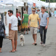 Stock Photo: Walk And Shop At Summer Arts Festival