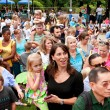Stock Photo: Crowd Gathers To View Release of Butterflies At Summer Festival