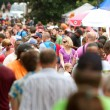 Stock Photo: Huge Crowd Moves Through Summer Festival In Atlanta
