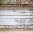 Vintage Garage Door Covered With Rust And Chipped Paint — Stock Photo #29695991