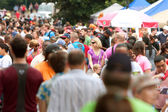 Huge Crowd Moves Through Summer Festival In Atlanta — Stock Photo