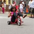 WomRides Big Wheel Tricycle Down AtlantStreet — Stock Photo #29978821