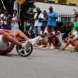 MRides Big Wheel Tricycle Downhill On AtlantStreet — Stock Photo #30151999
