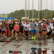 Stock Photo: Runners Take Off At Start Of Wet Race In Atlanta