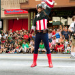 Stock Photo: Captain AmericSalutes Spectators At AtlantDragon Con Parade