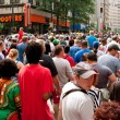 Stock Photo: Huge Crowd Fills Street Following AtlantDragon Con Parade