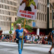MCarries Sign Urging Sinners To Repent At AtlantParade — Stock Photo #35997301