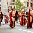 Stock Photo: Muscular Spartans From Movie 300 Walk In Dragon Con Parade