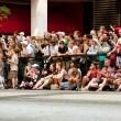 Spectators Line Street In Atlanta To Watch Dragon Con Parade — Stock Photo #35997877