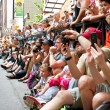 Stock Photo: Spectators Pack Street Watching Dragon Con Parade In Atlanta