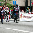 Star Wars Mandalorian Mercenaries Walk In The Dragon Con Parade — Stock Photo