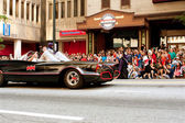 Batman Rides In Batmobile In Atlanta Dragon Con Parade — Stock Photo