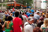 Huge Crowd Fills Street Following Atlanta Dragon Con Parade — Stock Photo