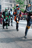 Star Wars Mandalorian Mercenaries Walk In Atlanta Dragon Con Parade — Stock Photo