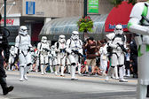 Star Wars Storm Troopers Walk In Atlanta Dragon Con Parade — Stock Photo