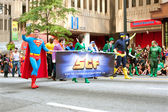 Superman Walks In Atlanta Dragon Con Parade — Stock Photo