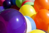Colorful Balloons At Sunny Outdoor Festival Fill Frame — Stock Photo