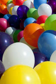 Colorful Balloons Tied Together At Outdoor Festival Fill Frame — Stock Photo