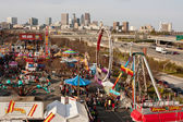 Elevated View Of Atlanta Fair Shows City Skyline — Stock Photo