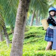 Cute asian young girl in beautiful hill tribe (HMONG) costume of northern thailand — Stock Photo #36310569