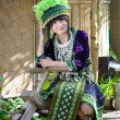 Cute asian young girl in beautiful hill tribe (HMONG) costume of northern thailand — Stock Photo #36310791