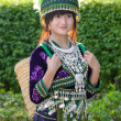 Cute asian young girl in beautiful hill tribe (HMONG) costume of northern thailand — Stock Photo #36310839