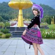 Cute asian young girl in beautiful hill tribe (HMONG) costume of northern thailand — Stock Photo #36310933