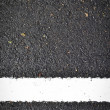 Stock Photo: New white line on road texture